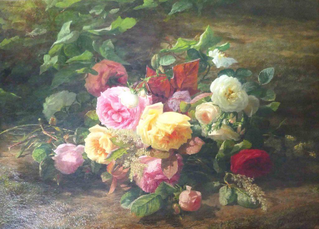 G.J.J van de Sande Bakhuyzen - bloemen in een bos - tumb