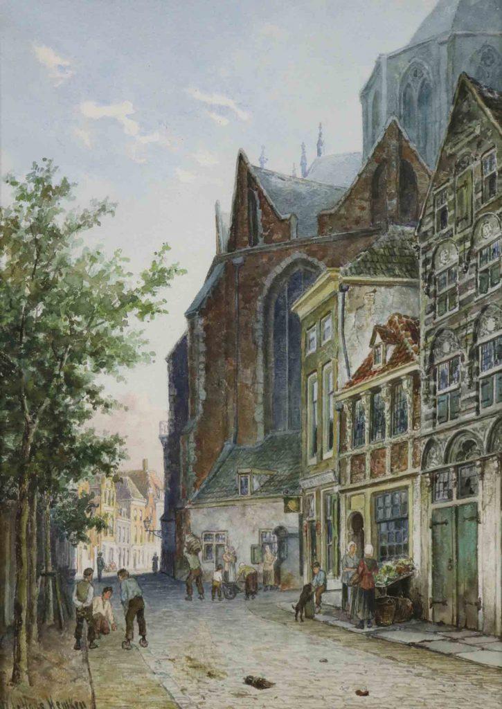 Willem De Haas Hemken - Amsterdams - Liquid Sky GalleryStadsgezicht