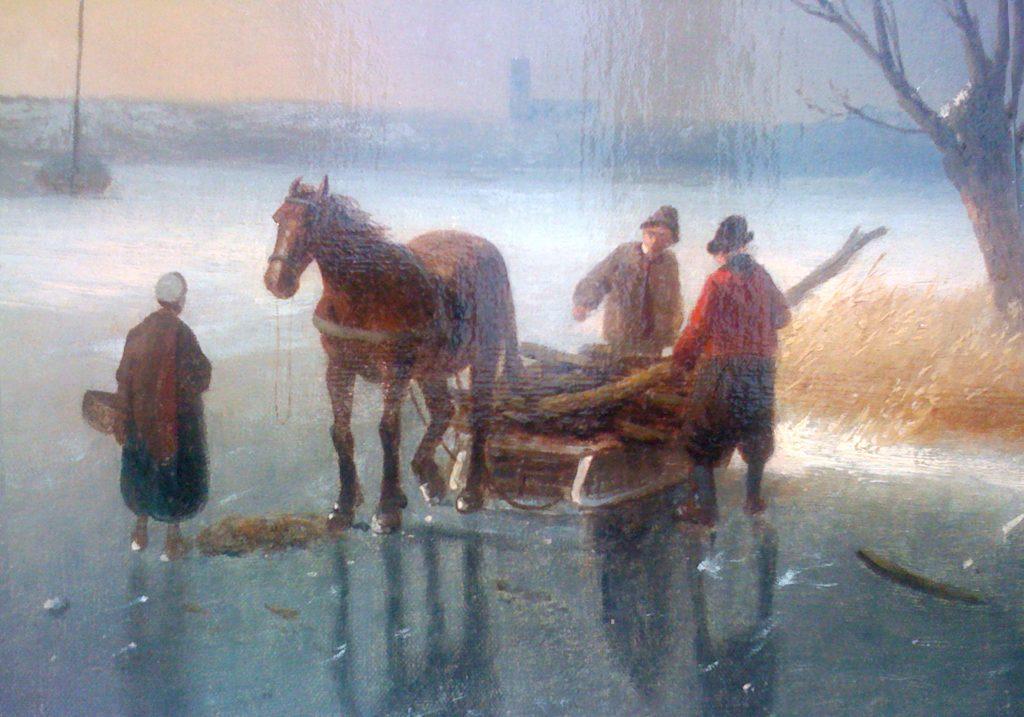 Charles Leickert - Weids Winterlandschap - Liquid Sky Gallery