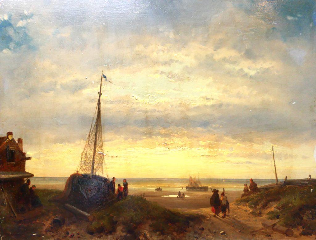 Charles Leickert - Het strand van Scheveningen - Liquid Sky Gallery