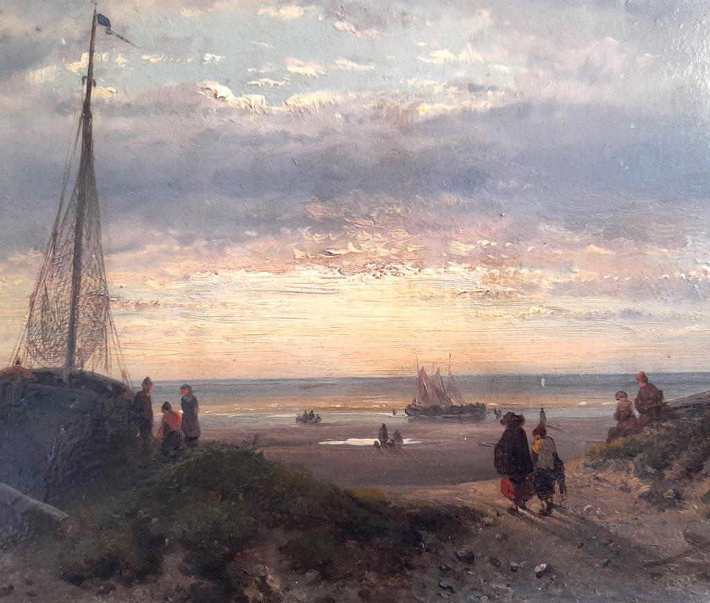 Charles Leickert - Het strand van Scheveningen- Liquid Sky Gallery
