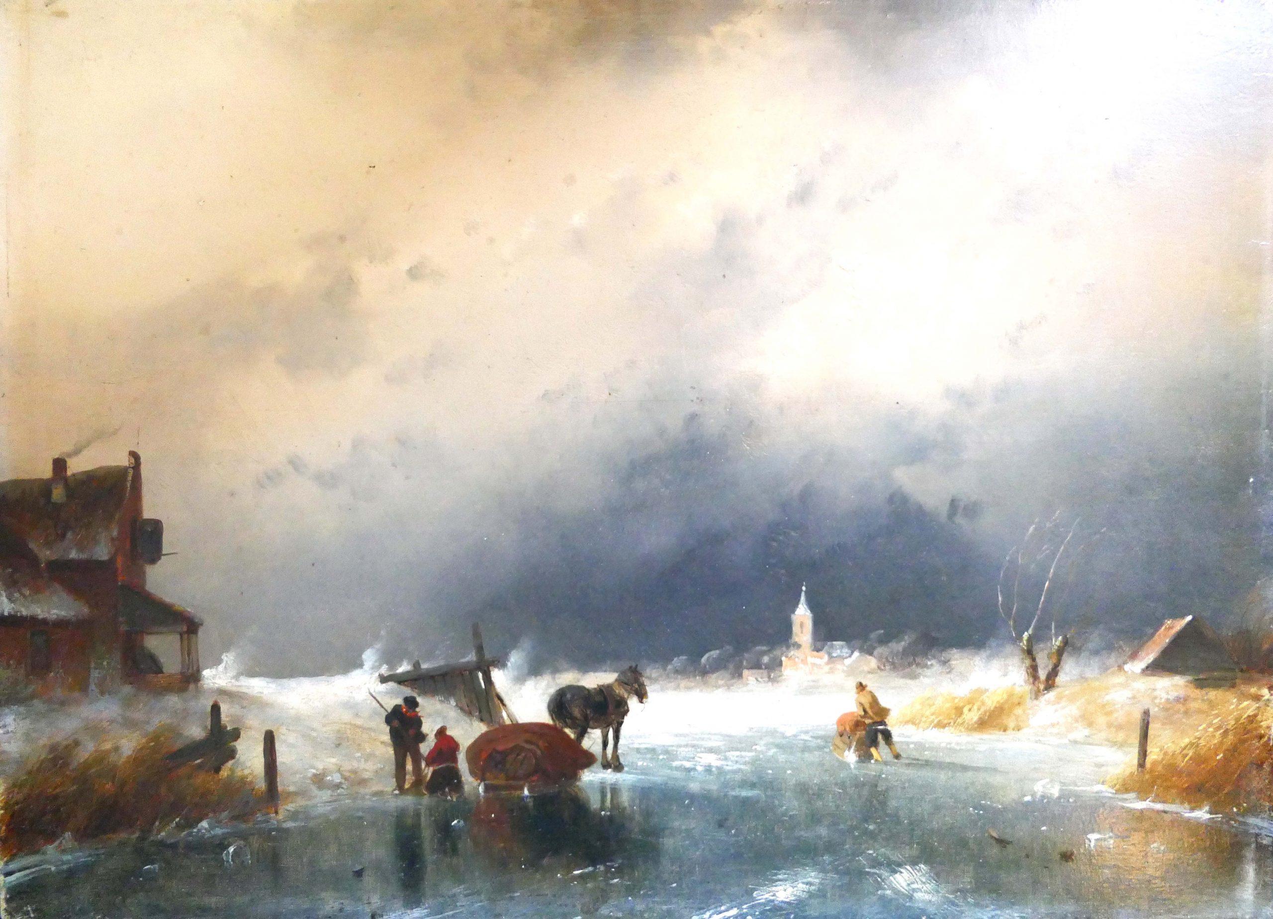 Charles Leickert - Sneeuw in de lucht - Liquid Sky Gallery