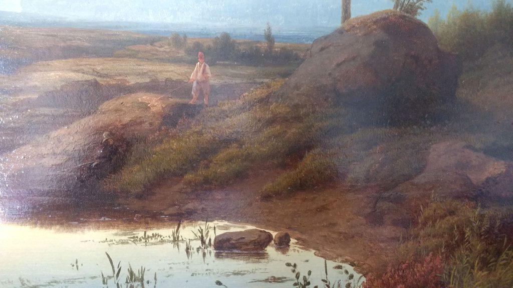 Cornelis Lieste - Een landschap bij zonsopkomst - Liquid Sky Gallery