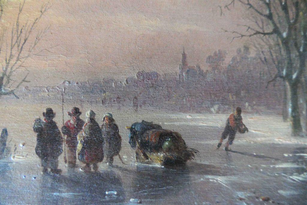 Jacobus van der Stok - Winterlandschap bij zonsondergang - Liquid Sky Gallery