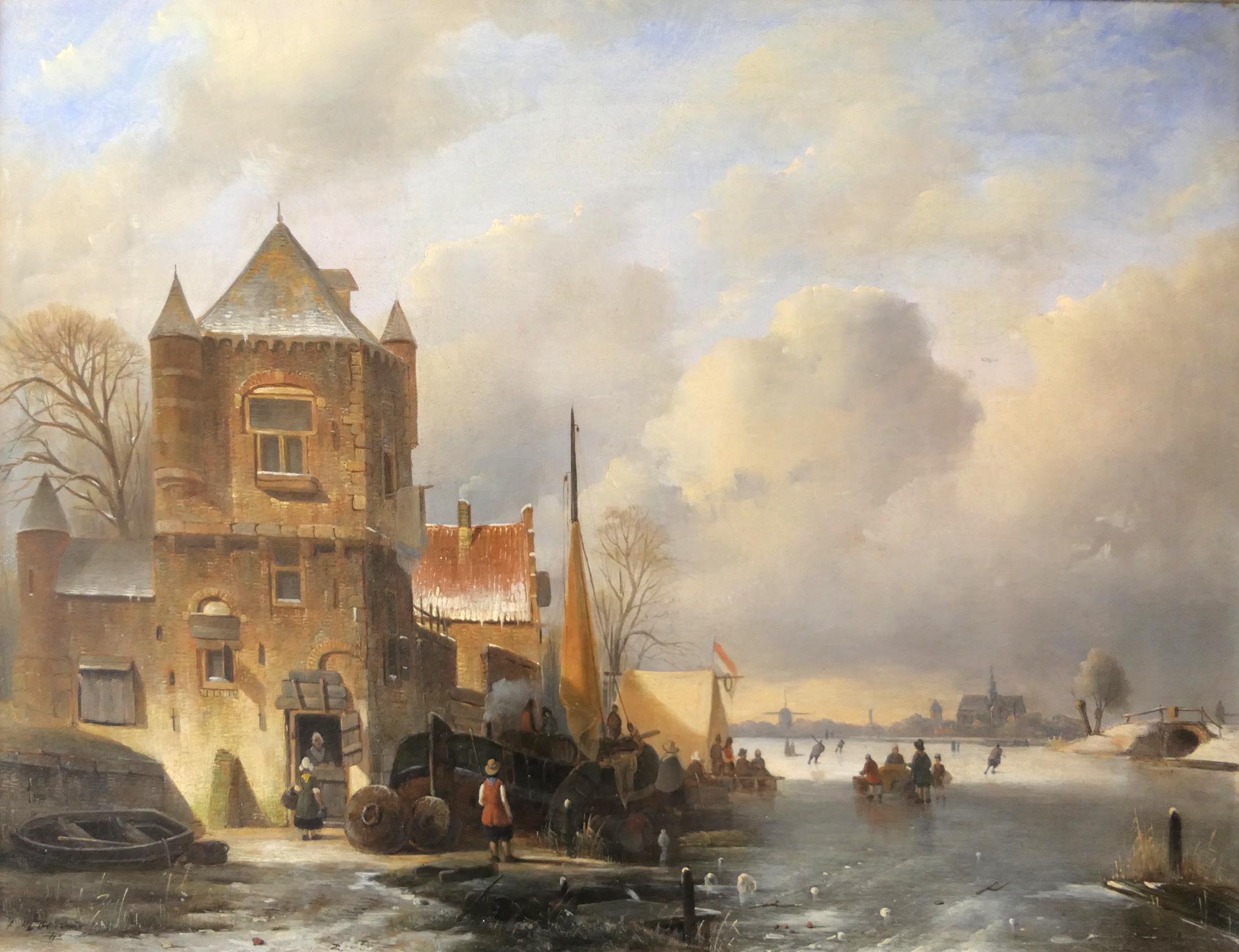 Cornelus Petrus 't Hoen - Koek-enzopie op het ijs - Liquid Sky Gallery