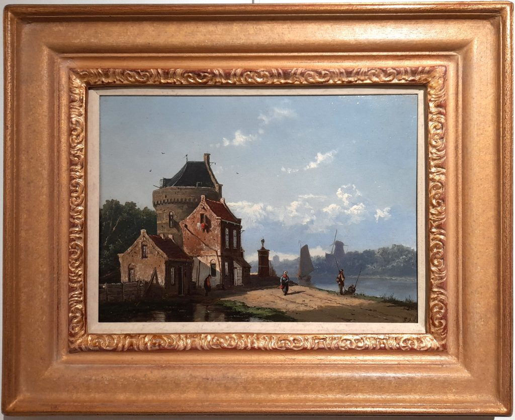 Frederik Roosdorp - Hollands zomerlandschap bij vaart - Liquid Sky Gallery