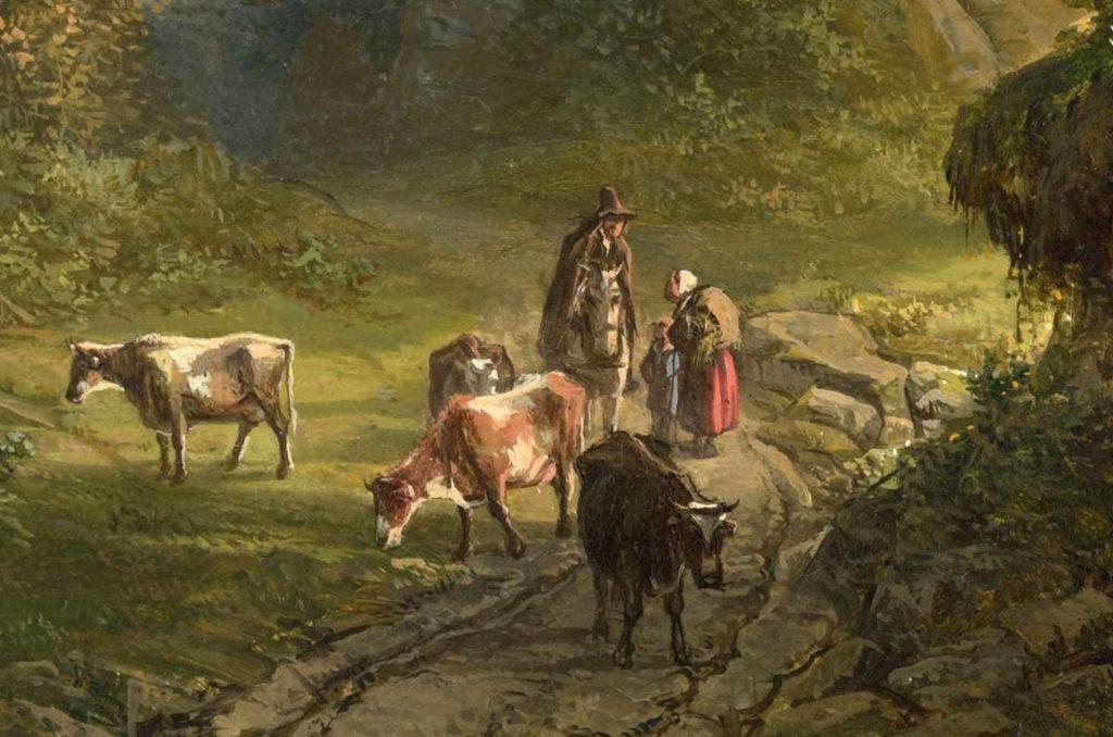 Bonifacius Cornelis Schneiders van Greyffenswerthk - Panoramisch uitzich nabij Kleef - Liquid Sky Gallery