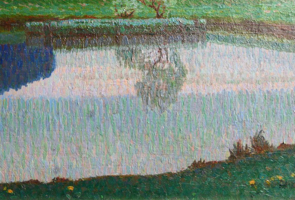 Maria Dreger - pointillistisch landschap - Liquid Sky Gallery - Z1