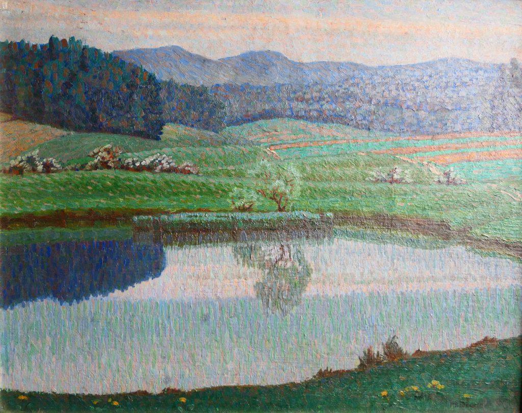 Maria Dreger - pointillistisch landschap - Liquid Sky Gallery - k