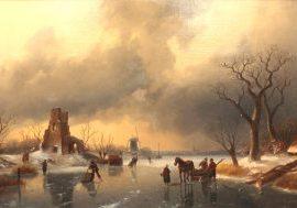 Charles Leickert - Groots winterlandschap - Liquid Sky Gallery - t