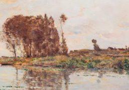 Hippolyte Camille Delpy - detail van de bomen - Liquid Sky Gallery - dh