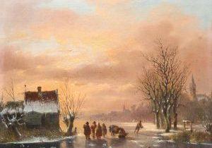 Jacobus van der Stok - Winterlandschap - Liquid Sky Gallery